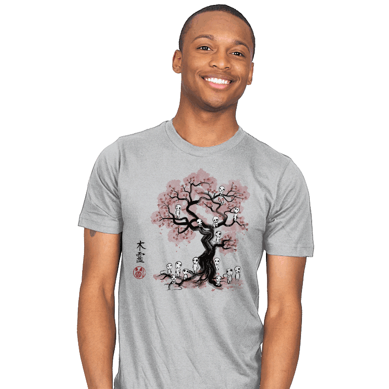 Forest Spirits Sumi-e - Mens - T-Shirts - RIPT Apparel