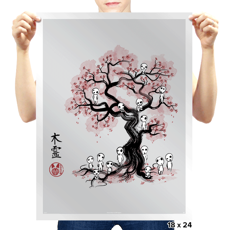 Forest Spirits Sumi-e - Prints - Posters - RIPT Apparel