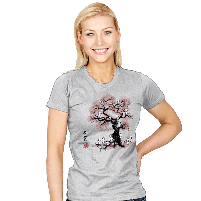 Forest Spirits Sumi-e - Womens - T-Shirts - RIPT Apparel