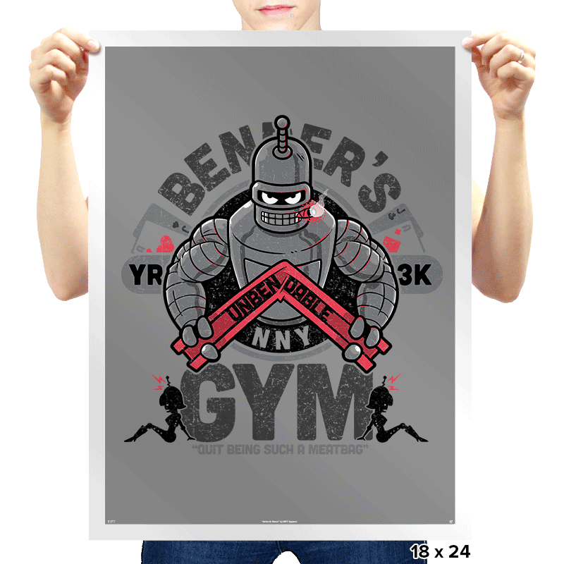 Bender's Gym - Prints - Posters - RIPT Apparel
