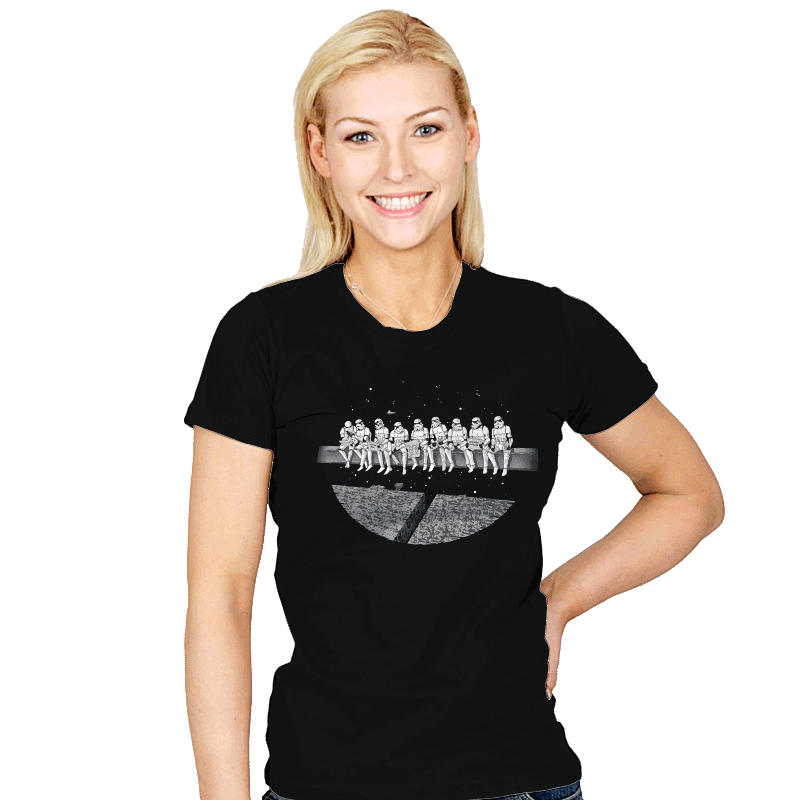 Lunch atop a Death Star - Womens - T-Shirts - RIPT Apparel