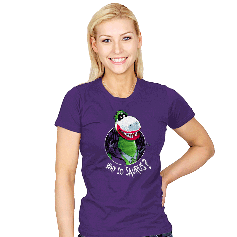 Why so Saurus? - Womens - T-Shirts - RIPT Apparel