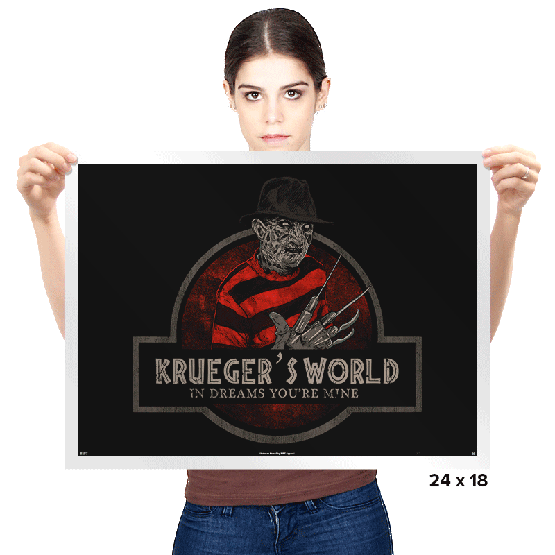 Krueger's World - Prints - Posters - RIPT Apparel