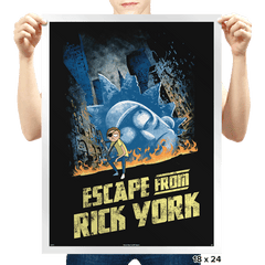Escape from Rick York - Prints - Posters - RIPT Apparel