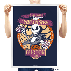Pumpkin King Ale - Prints - Posters - RIPT Apparel