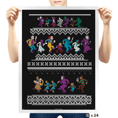 Monster Holiday Sweater - Prints - Posters - RIPT Apparel
