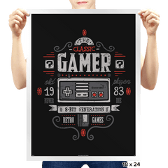 Classic Gamer - Prints - Posters - RIPT Apparel
