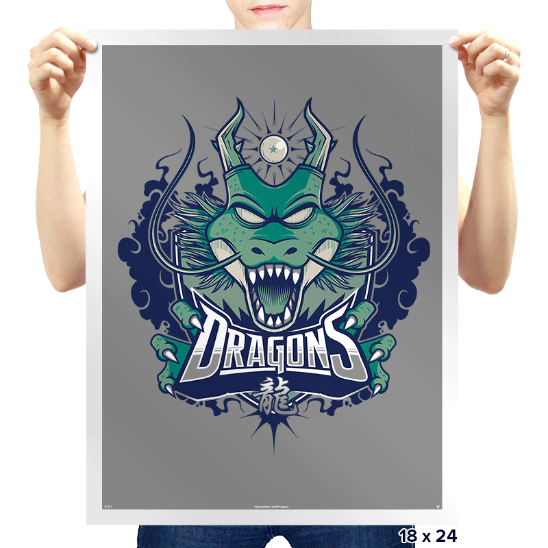 Team Dragons - Prints - Posters - RIPT Apparel