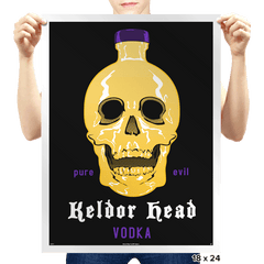 Keldor Head Vodka - Prints - Posters - RIPT Apparel