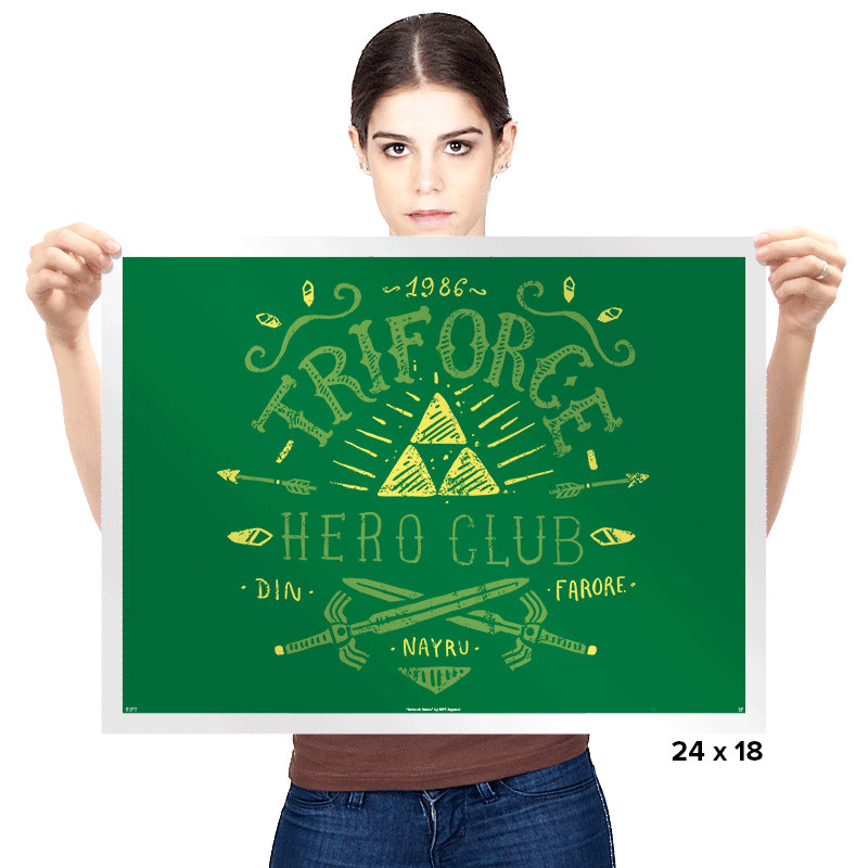 Triforce Hero Club - Prints - Posters - RIPT Apparel
