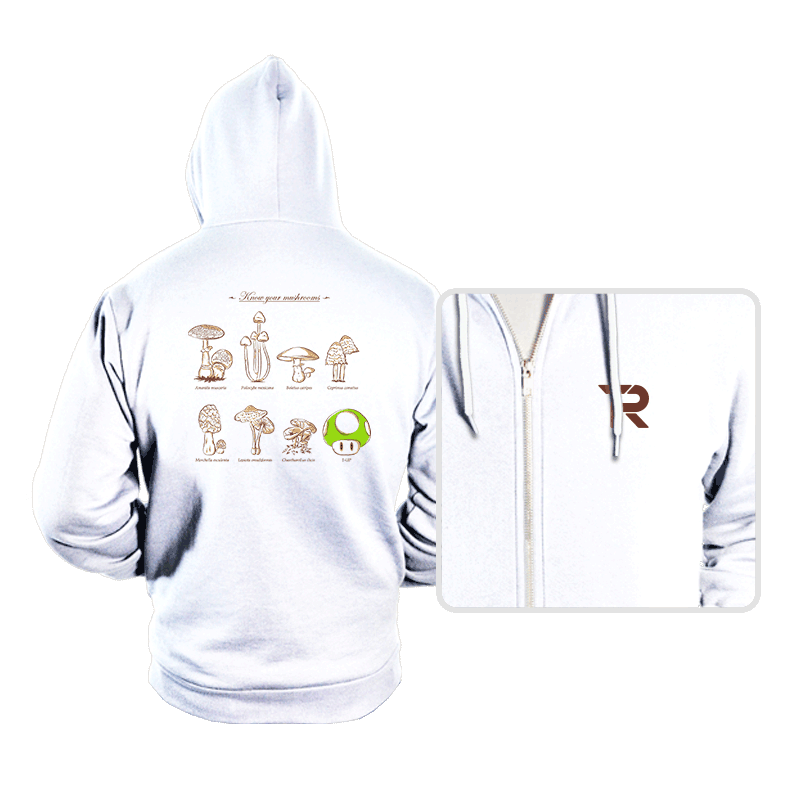 Know your mushrooms - Hoodies - Hoodies - RIPT Apparel