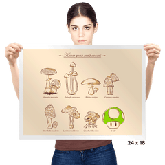 Know your mushrooms - Prints - Posters - RIPT Apparel
