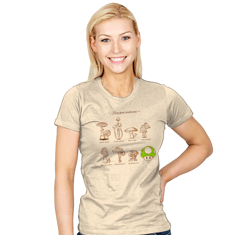 Know your mushrooms - Womens - T-Shirts - RIPT Apparel