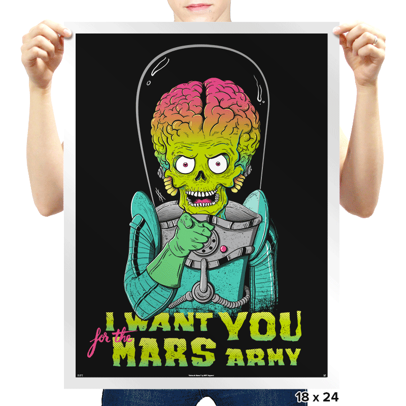 Mars Recruitment - Prints - Posters - RIPT Apparel