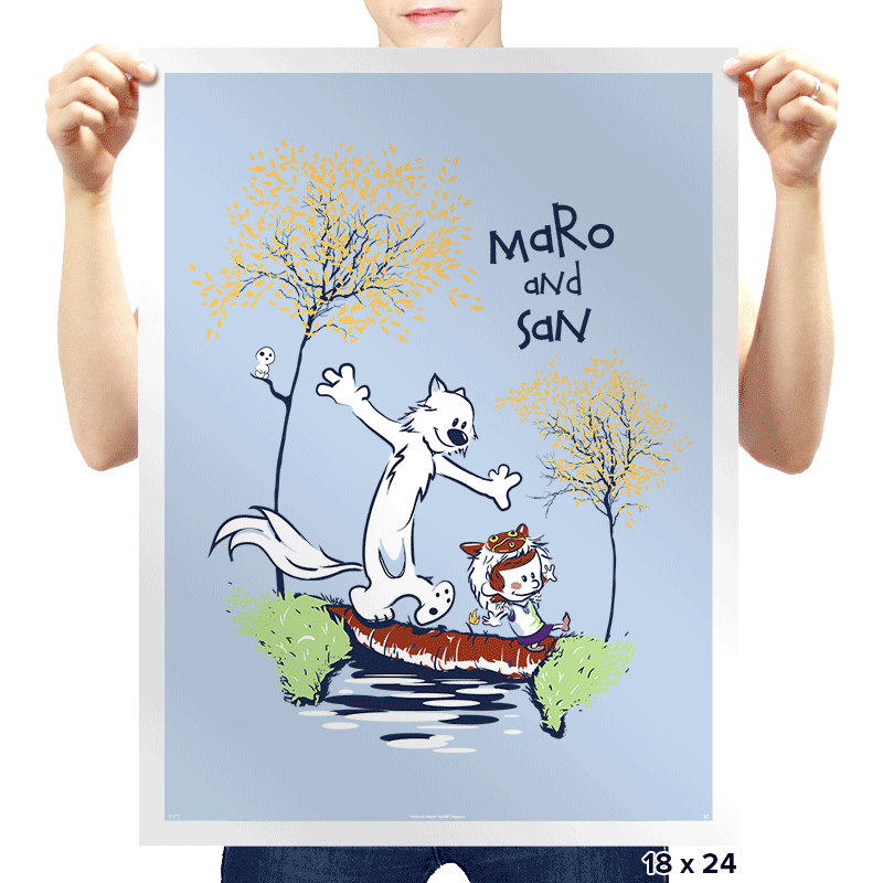Maro and San - Prints - Posters - RIPT Apparel