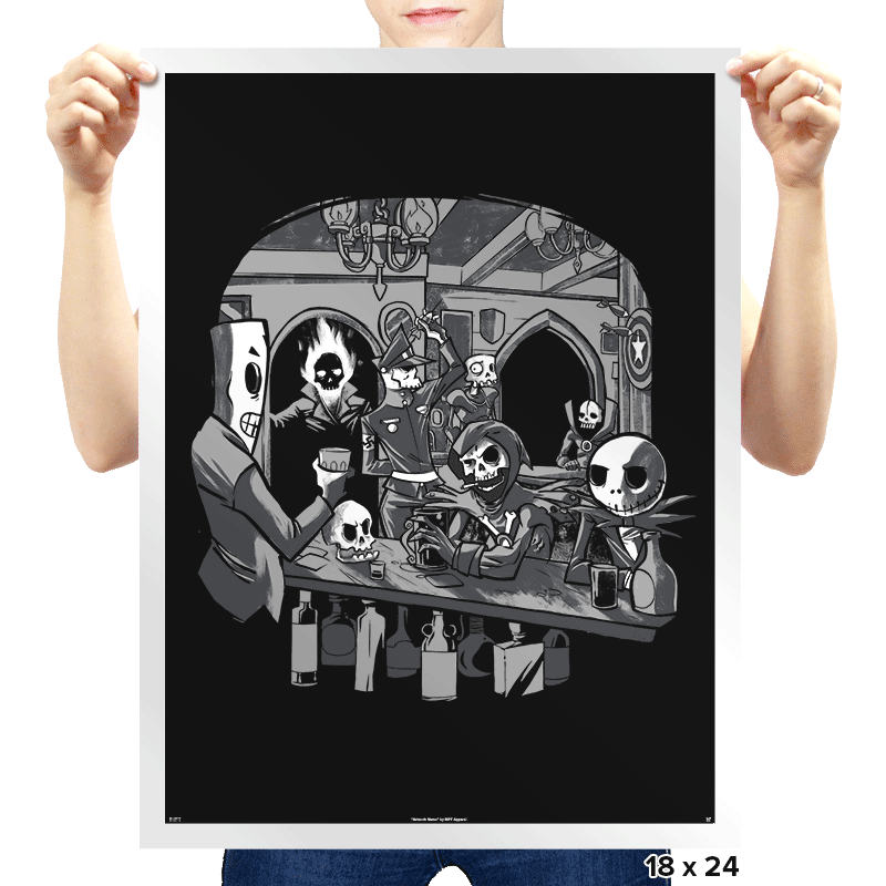 Skull's Inn - Prints - Posters - RIPT Apparel