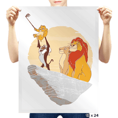The Lion Selfie - Prints - Posters - RIPT Apparel