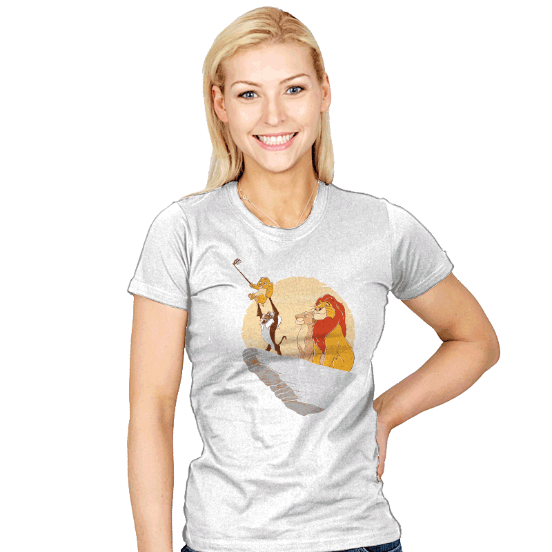 The Lion Selfie - Womens - T-Shirts - RIPT Apparel