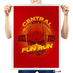 Central City Fun Run - Prints - Posters - RIPT Apparel