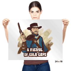 A Fistful of Cola Caps - Prints - Posters - RIPT Apparel