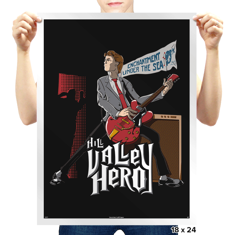 Hill Valley Hero - Prints - Posters - RIPT Apparel