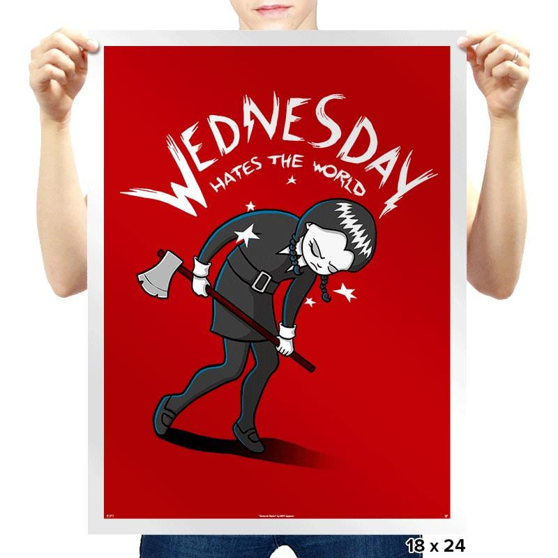 Wednesday Hates The World - Prints - Posters - RIPT Apparel