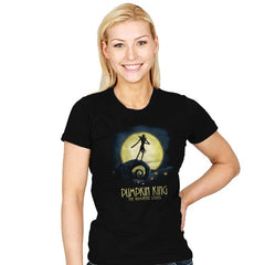 Animated Pumpkin King - Womens - T-Shirts - RIPT Apparel