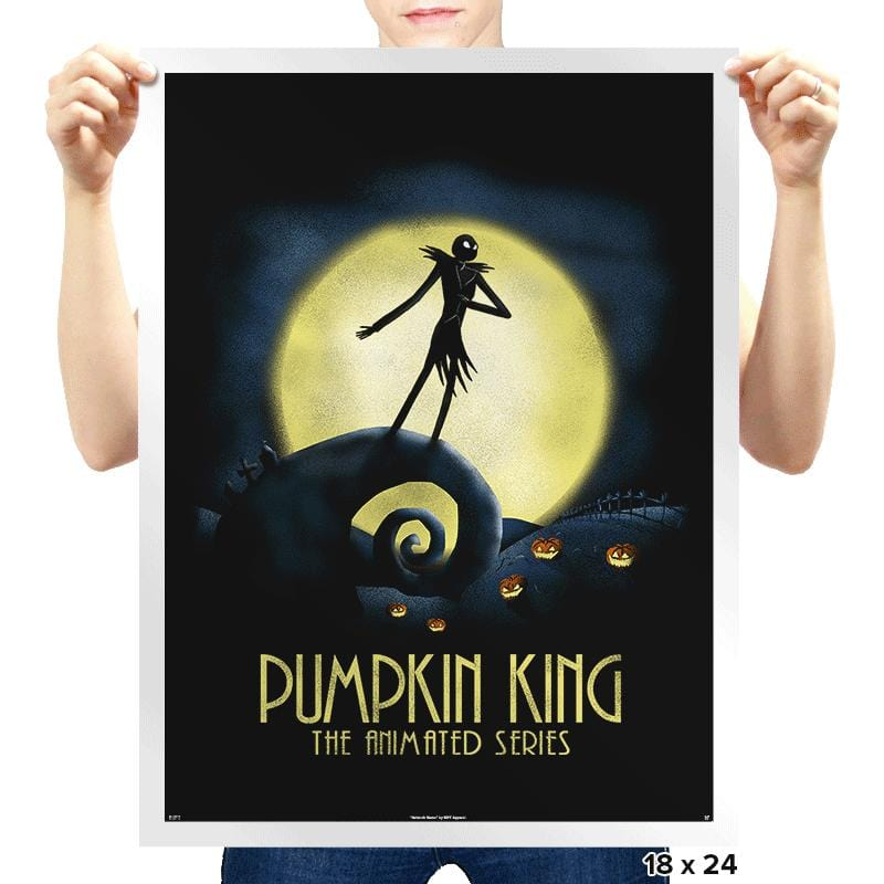 Animated Pumpkin King - Prints - Posters - RIPT Apparel