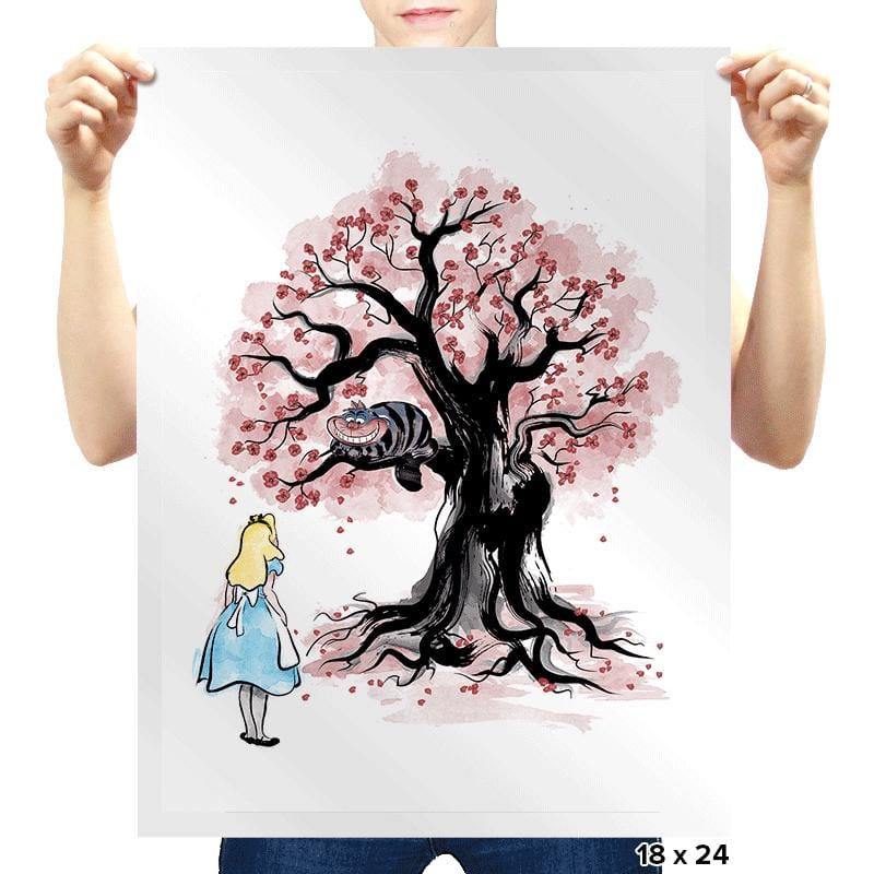 The Cheshire's Tree Sumi-e - Prints - Posters - RIPT Apparel