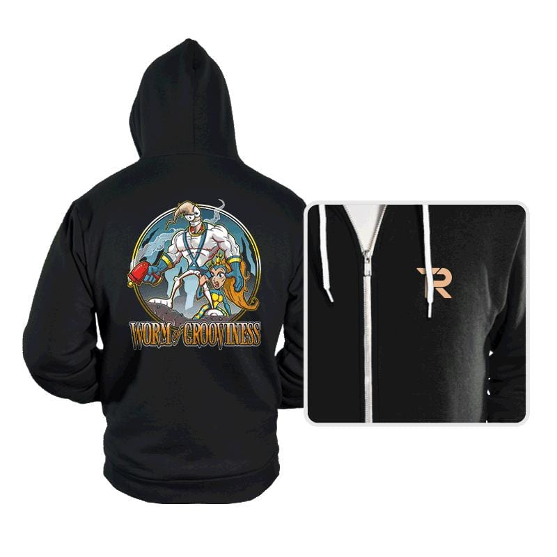 Worm of Grooviness - Hoodies - Hoodies - RIPT Apparel