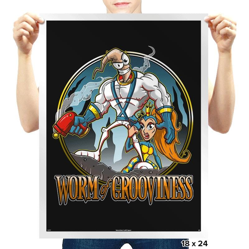 Worm of Grooviness - Prints - Posters - RIPT Apparel
