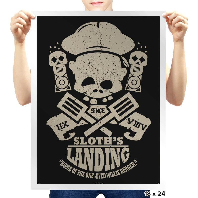 Sloth's Landing - Prints - Posters - RIPT Apparel