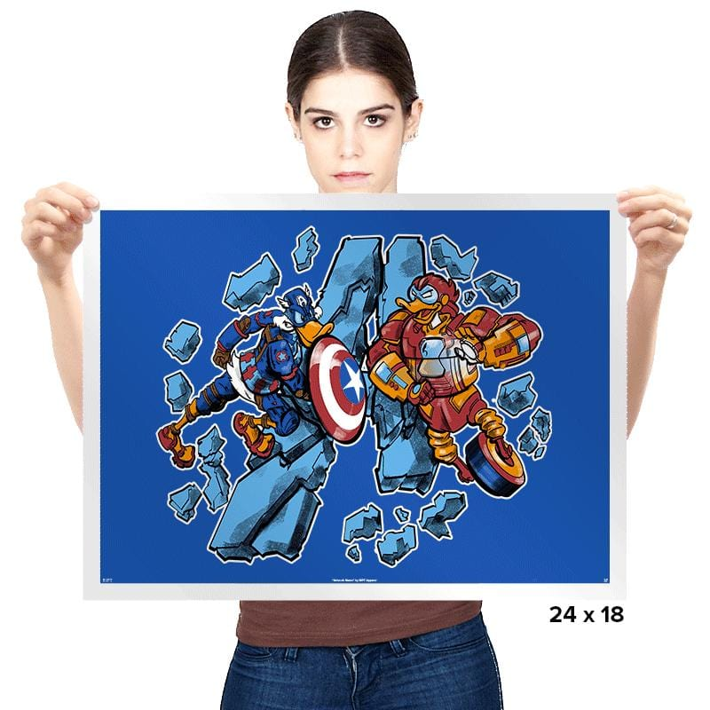 Duck Vengers - Prints - Posters - RIPT Apparel