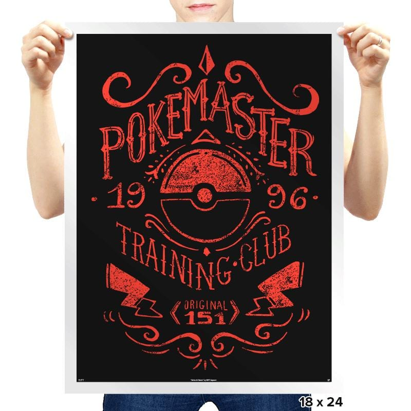 Pokemaster Training Club - Prints - Posters - RIPT Apparel