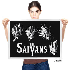 The Saiyans - Prints - Posters - RIPT Apparel