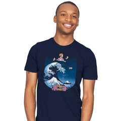 The Great Wave of Ponyo - Mens - T-Shirts - RIPT Apparel