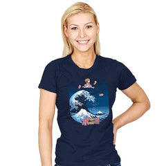 The Great Wave of Ponyo - Womens - T-Shirts - RIPT Apparel