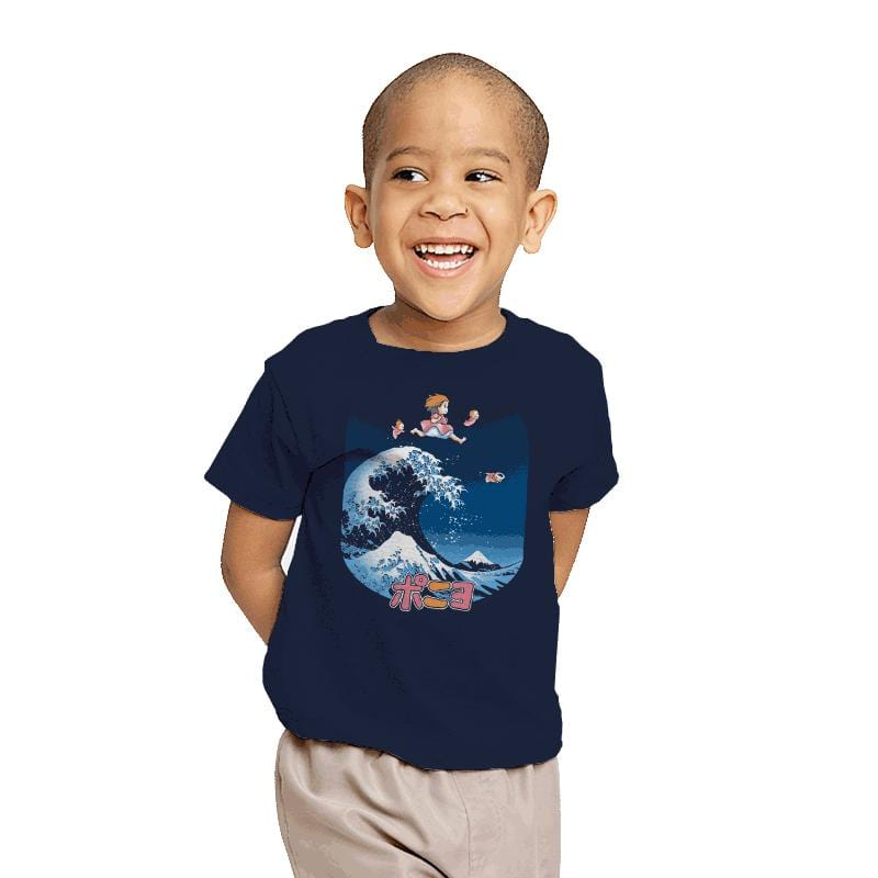 The Great Wave of Ponyo - Youth - T-Shirts - RIPT Apparel