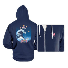 The Great Wave of Ponyo - Hoodies - Hoodies - RIPT Apparel