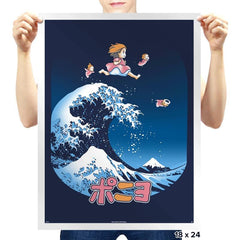The Great Wave of Ponyo - Prints - Posters - RIPT Apparel
