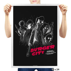 Burger City - Prints - Posters - RIPT Apparel