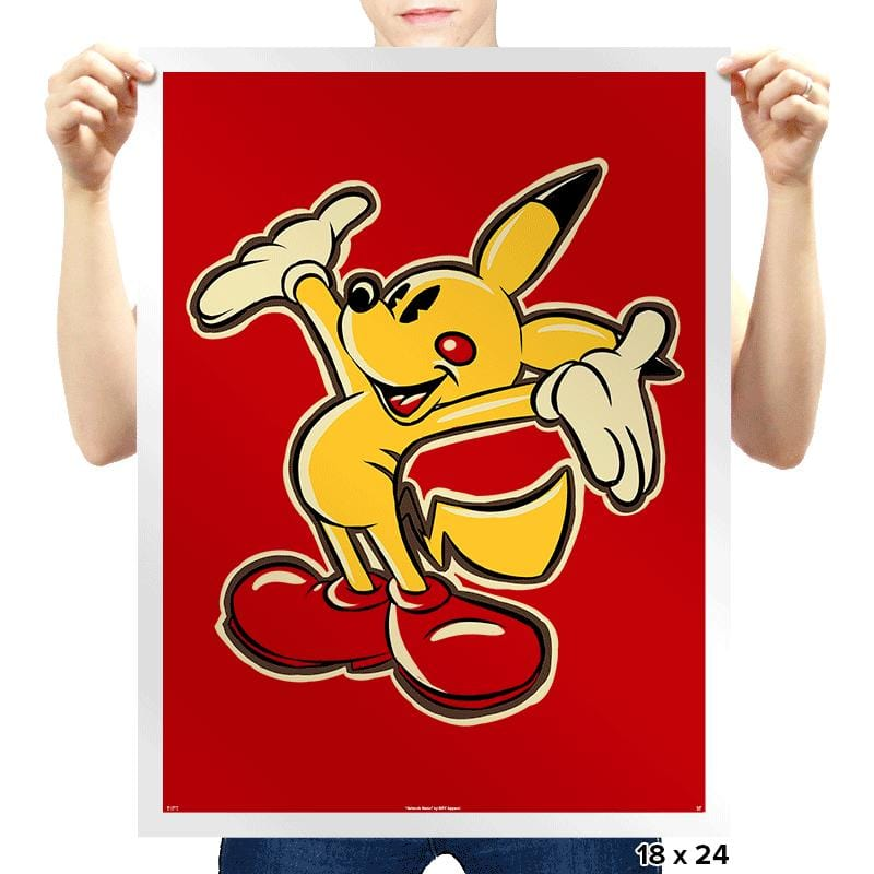 Pika Mouse - Prints - Posters - RIPT Apparel