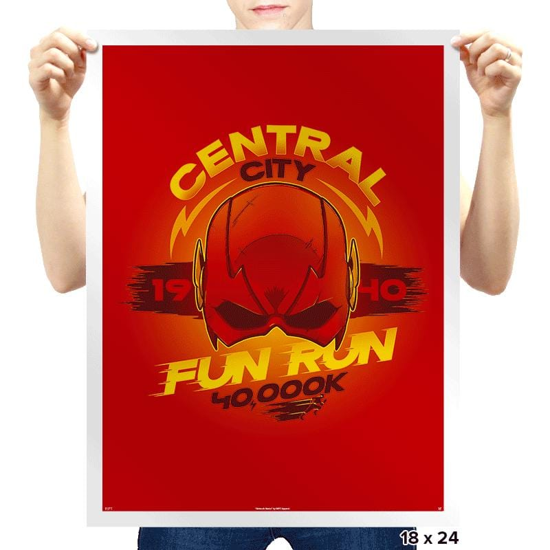 Central City Fun Run Exclusive - Prints - Posters - RIPT Apparel