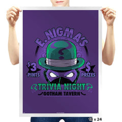 E. Nigma's Trivia Night Exclusive - Prints - Posters - RIPT Apparel