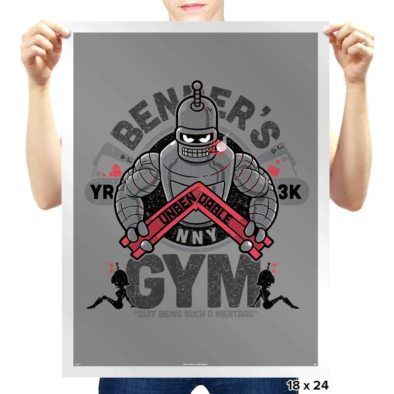 Bender's Gym Exclusive - Prints - Posters - RIPT Apparel
