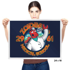 Med. School of the Future - Prints - Posters - RIPT Apparel