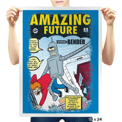 Amazing Future - Prints - Posters - RIPT Apparel