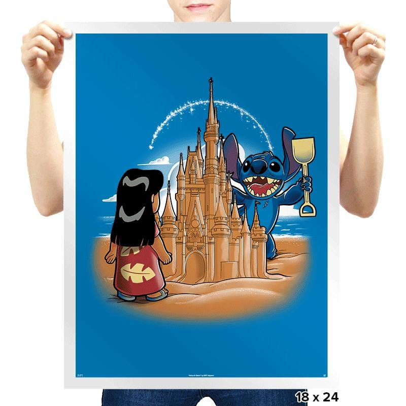 Sandcastle - Prints - Posters - RIPT Apparel