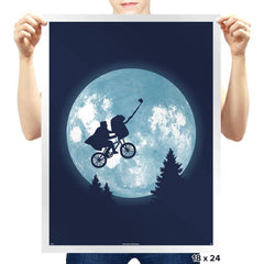 Phone Home Selfie - Prints - Posters - RIPT Apparel
