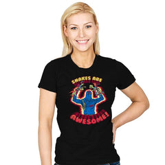 Snakes Are Awesome! - Womens - T-Shirts - RIPT Apparel